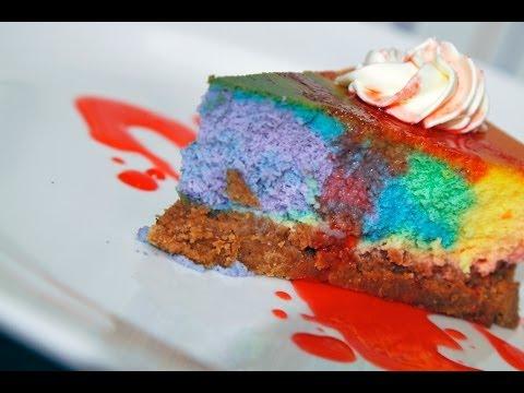 رينبو تشيز كيك من مطبخ سمر - rainbow cheesecake
