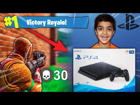 I told my 5 year old little brother if he gets a victory royale in Fortnite I will buy him a PS4!