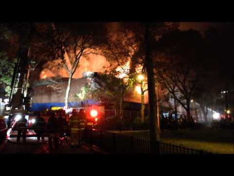fdny - HERE YOU WILL SEE THE FDNY, NYPD AND EMS SERVICES RESPONSE TO A 3 ALARM FIRE AT 1440 AMSTERDAM AVENUE, IN A LAUNDROMAT AND SUPERMARKET, IN THE MANHATTAN VILL...