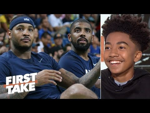 Video: Miles Brown wants Carmelo on the Nets, says the Lakers will be better than the Clippers | First Take