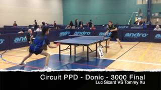 PingPongDepot.com - DONIC CIRCUIT - Feb 2017 - Laval, Quebec - 3000 Final - Luc Picard VS Tommy Xu.