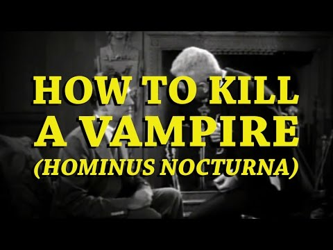 How to kill a Vampire - Supercut