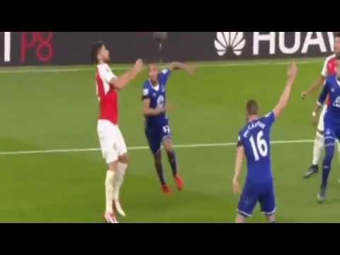 Arsenal vs Everton 2-1 ~ All Goals & Highlights Premier League 2015