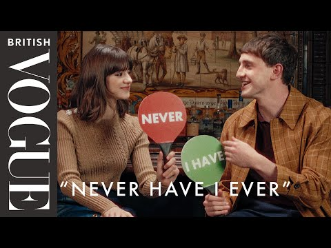 """The Stars Of 'Normal People' Play """"Never Have I Ever""""   British Vogue"""