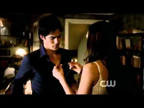 Damon & Elena 3x01 - Birthday present scene