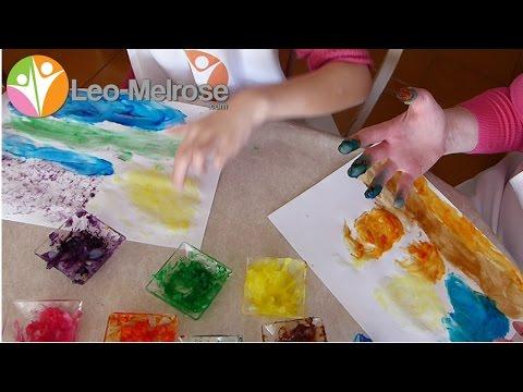 Recette de peinture au doigt avec les ingr�dients de votre cuisine