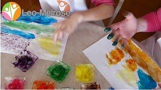 Recette de peinture au doigt avec les ingrédients de votre cuisine