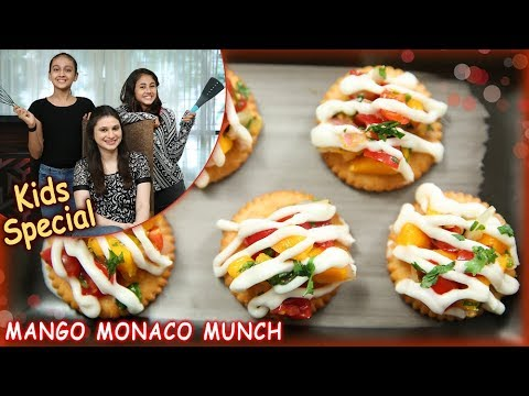 Mango Monaco Munch – Quick & Easy Snack Recipe – Kids Special Recipe – Ruchi Bharani