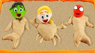 Video Superhero Baby Spiderman Hulk Sandbox Mermaid Playtime Play Doh Cartoons Stop Motion Kids Animations MP3, 3GP, MP4, WEBM, AVI, FLV Agustus 2018