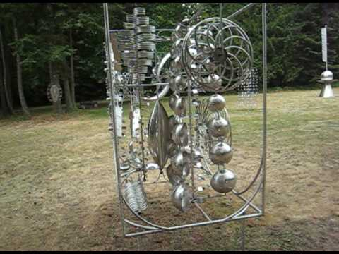 Sculpture - Some video clips from Anthony Howe's sculpture garden on Orcas Island, WA. Taken during our fourth anniversary trip to Orcas Island.