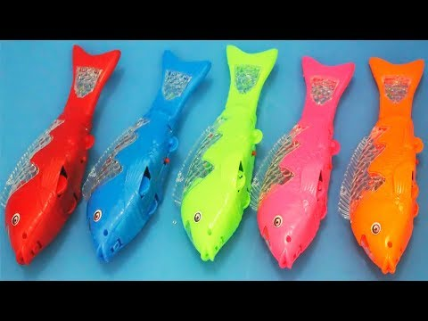 Ikan koi mainan anak | animals toys for kids | learning colors with colored fish toys