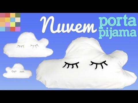 almofada nuvem porta pijama