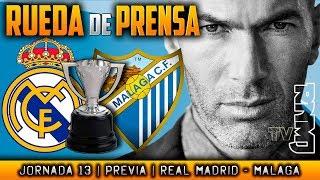 Video Real Madrid - Málaga Rueda de prensa de Zidane (24/11/2017)   PREVIA LIGA JORNADA 13 MP3, 3GP, MP4, WEBM, AVI, FLV November 2017