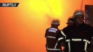 В Германии в лагере беженцев вспыхнул пожар