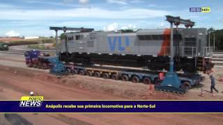 Video Anápolis recebe sua primeira locomotiva para a Norte-Sul. MP3, 3GP, MP4, WEBM, AVI, FLV Desember 2018