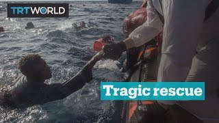 Children were among 34 reported dead after hundreds of migrants and refugees fall from an overloaded boat while being rescued. Subscribe: http://trt.world/su...