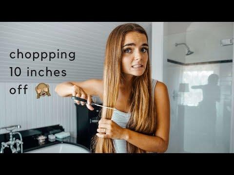 cutting my own hair 😬 eeeeek! (видео)