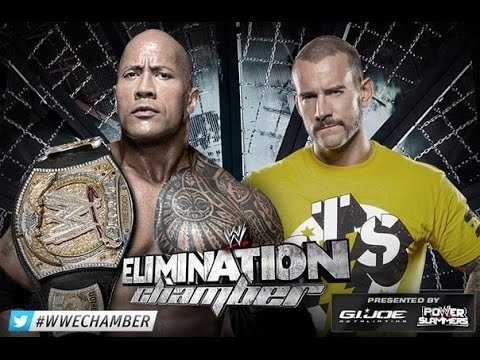 WWE Elimination Chamber 2013 ► CM Punk vs The Rock [OFFICIAL PROMO HD]