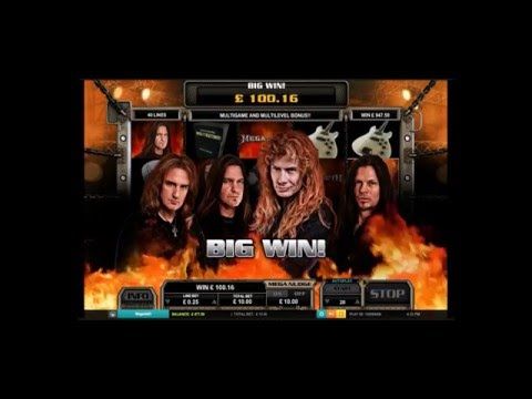 Big Slot Win - Megadeth online slot big win in the bonus feature with 22 free spins.