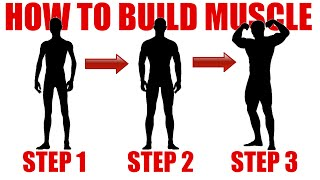 HOW TO GET BUFF: GO FROM SKINNY TO MUSCULAR IN 3 SIMPLE STEPS