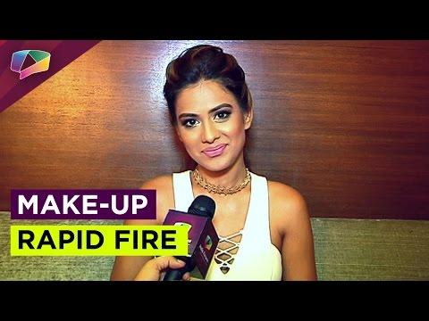 Nia Sharma plays make-up rapid fire