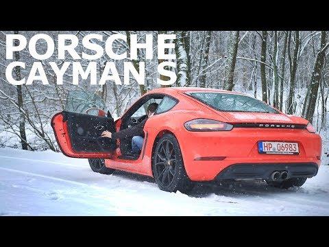 Porsche Cayman S 718 Test im Schnee! Review und Fahrbericht   Fahr doch