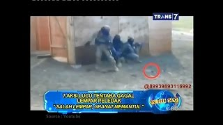 Video On The Spot - 7 Aksi Lucu Tentara Gagal Lempar Peledak MP3, 3GP, MP4, WEBM, AVI, FLV Oktober 2018
