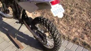 1. 2007 Husqvarna TE450 Enduro Dirtbike Startup and Walkaround