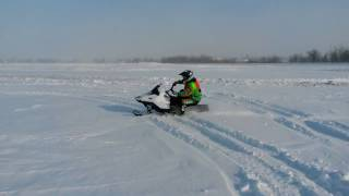 6. carving on the 2018 Arctic Cat ZR200 youth snowmobile