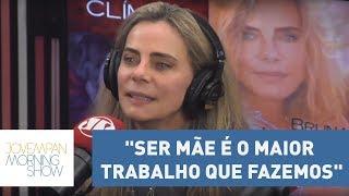"""Bruna Lombardi: """"Ser mãe é o maior trabalho que fazemos nesse mundo"""" Inscreva-se no canal de entretenimento da Jovem Pan:..."""