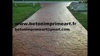 Appoigny France  city photos gallery : Beton Imprime Appoigny (89380) ,France www.betonimprimeart.fr YouTube