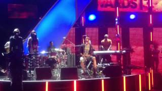 Curtis Fields Rehearsing Opposites Attract For BET Awards