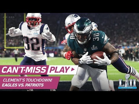 Nick Foles Drops Perfect TD Dime to Corey Clement! | Can't-Miss Play | Super Bowl LII (видео)