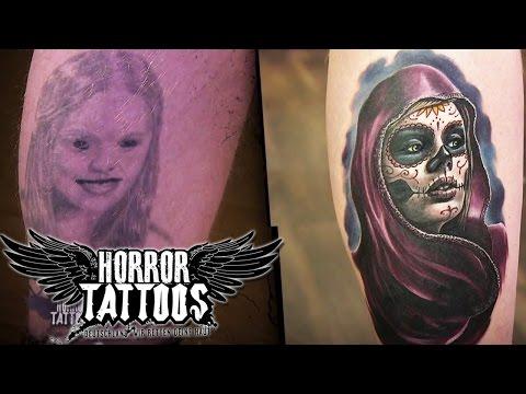 Horror Tattoos | Vorher/nachher | Berlin | sixx