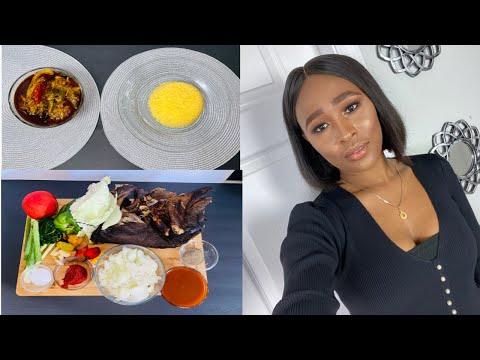 How to make smoked catfish recipe / stew, mafè kon kon , west African food / guinea 🇬🇳, Rougisto