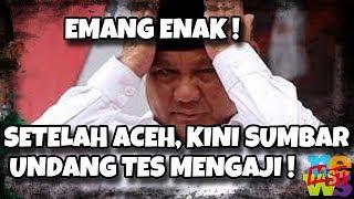 Video Setelah Aceh, Sekarang Sumbar Undang Capres Cawapres Uji Baca Al Quran Dan Menjadi Imam Shalat !! MP3, 3GP, MP4, WEBM, AVI, FLV Februari 2019