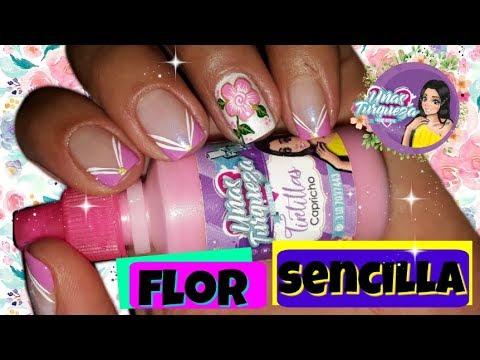 Modelos de uñas - Decoración de uñas flores fácil