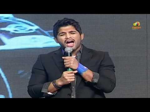 allu arjun talks about pawan kalyan, trivikram & devi sri prasad - julayi audio launch