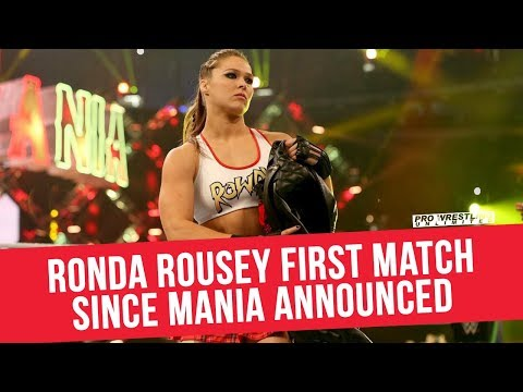Ronda Rousey's First Match Since WrestleMania Revealed