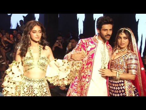 Pati, Patni Aur Woh | Kartik Aryan, Ananya & Bhumi On Ramp For Abu Sandeep Bridal Collection