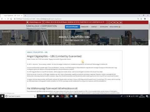Simfalogic - Cégalapítás Angliában - www.angolkonyveles.co.uk