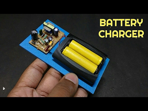 How To Make A Battery Charger At Home From Old Parts - AA Batteries
