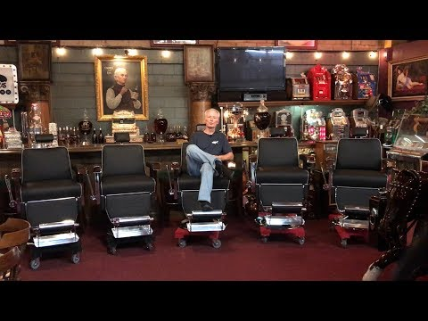 1960's Barbershop Chairs Fully Restored for O'Grady's Barbershop in Crystal Lake, IL.