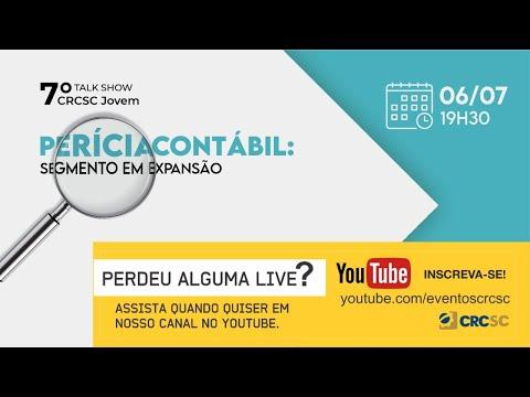 """7° Talk Show CRCSC Jovem """"PERÍCIA CONTÁBIL:  segmento em expansão"""""""