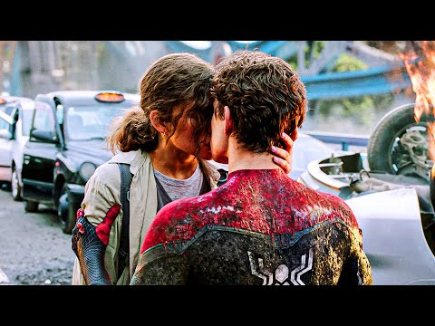 Peter Parker and MJ kiss Scene | SPIDER-MAN FAR FROM HOME (2019) Movie CLIP 4K