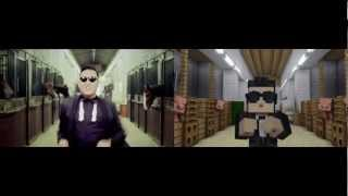 Video GANGNAM STYLE VS MINECRAFT STYLE MP3, 3GP, MP4, WEBM, AVI, FLV Juli 2018