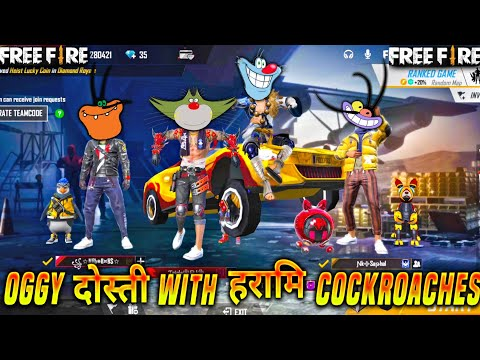 Free fire : OGGY Friendship With Cockroaches | Jack || Oggy Free Fire | Triple Slot