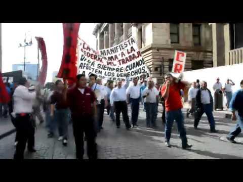 Marcha de la CROM 2 de octubre del Senado de la Rep�blica al Z�calo