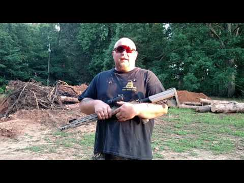 Man braces AR-15 with his nose