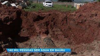 Rompimento de tubulações antigas prejudicam moradores de Bauru